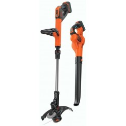 BLACK+DECKER LCC520BT 20V SMARTECH Max Easy Feed String Trimmer and Power Boost Sweeper Combo Kit