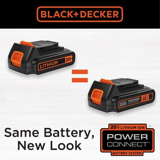 BLACK+DECKER 20V MAX Cordless Pole Hedge Trimmer, 18-Inch (LPHT120)