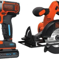 Black & Decker BDCDDBT120CS Smartech 20V MAX Drill/Driver and Circular Saw Combo Kit