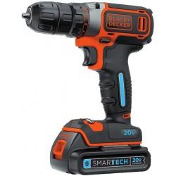 BLACK+DECKER 20V MAX Cordless Drill with SMARTECH, Single Speed (BDCDDBT120C)