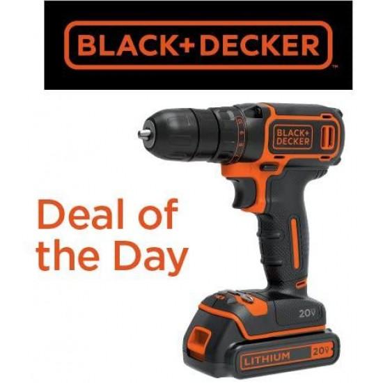 BLACK+DECKER BDCDD120C 20V MAX Lithium Single Speed Drill/Driver