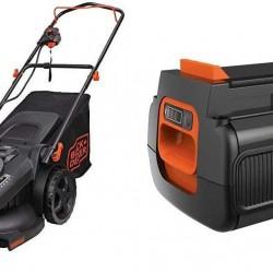 BLACK+DECKER 40V MAX Lithium Mower with Extra Battery, 2.0-Ah (CM2045 & LBX2040)