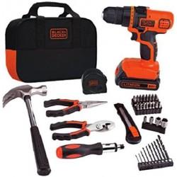 BLACK+DECKER 20V MAX Drill & Home Tool Kit, 56 Piece (LDX20WPK2B)