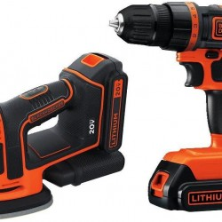 BLACK+DECKER 20V MAX Cordless Drill/Driver Kit w/ Sander (BD2KITCDDS)